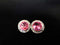 Crystal_Pink_Swarovski_Button_Earrings_irish_dancing_idanceirish_Jpeg