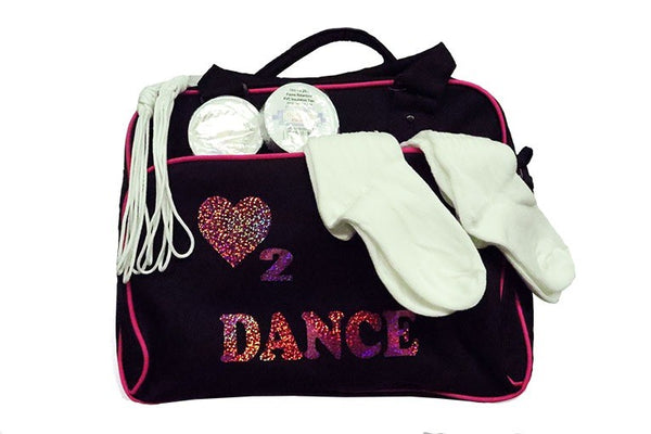 Dance bag with socks, laces and tape - What a bundle!