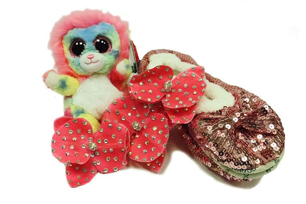 Snoozie slippers gift pack - pink