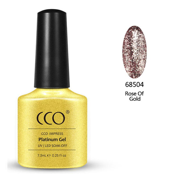 Rose Of Gold Platinum 04 freeshipping - Gel Nail Varnish