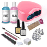 CCO Deluxe Kit - Pink Heart Led Lamp - Gel Nail Varnish