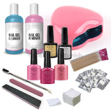 CCO Deluxe Pink Kit - Pink Heart Led Lamp - Gel Nail Varnish