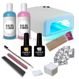 Crystal-G Deluxe Kit - UV Lamp - Gel Nail Varnish