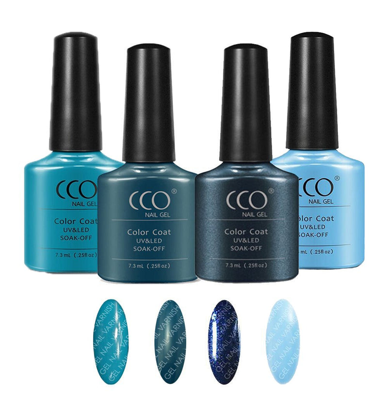 CCO Deluxe Blue Kit freeshipping - Gel Nail Varnish