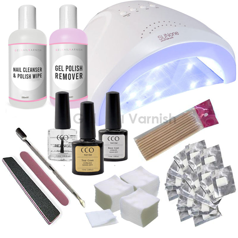 CCO Super Deluxe Kit - 24W/48W 2 in 1 LED/UV Nail Lamp freeshipping - Gel Nail Varnish