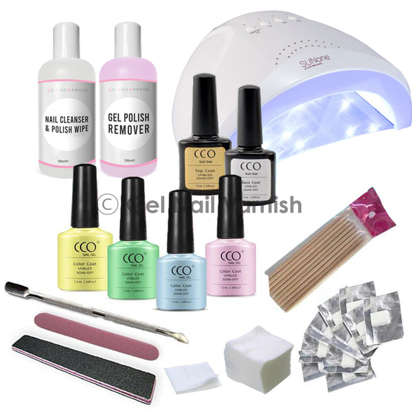 CCO Deluxe Pastel Kit freeshipping - Gel Nail Varnish