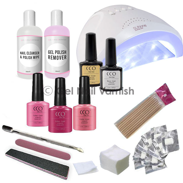 CCO Deluxe Pink Kit freeshipping - Gel Nail Varnish