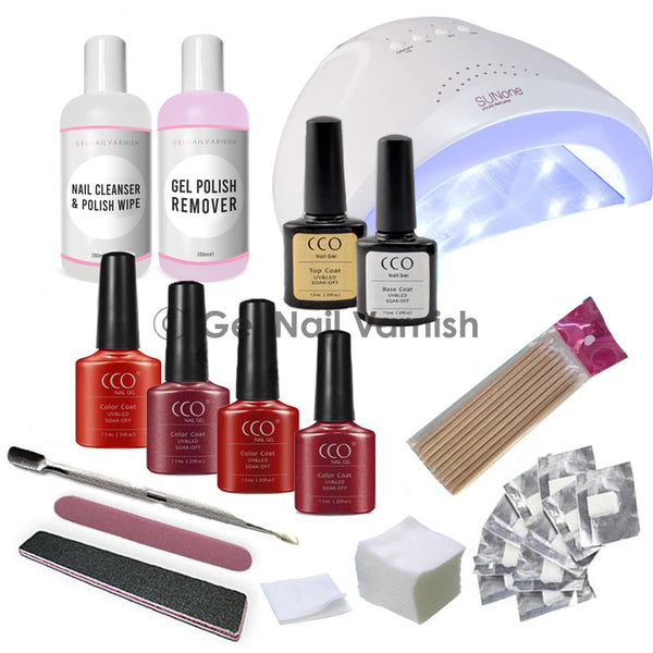 CCO Deluxe Red Kit freeshipping - Gel Nail Varnish