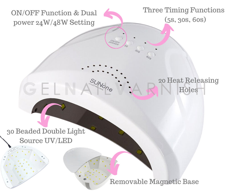 CCO Super Deluxe Kit - 24W/48W 2 in 1 LED/UV Nail Lamp