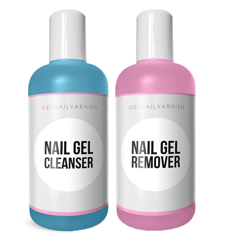 125ml GNV Nail Cleanser & 150ml Gel Polish Remover