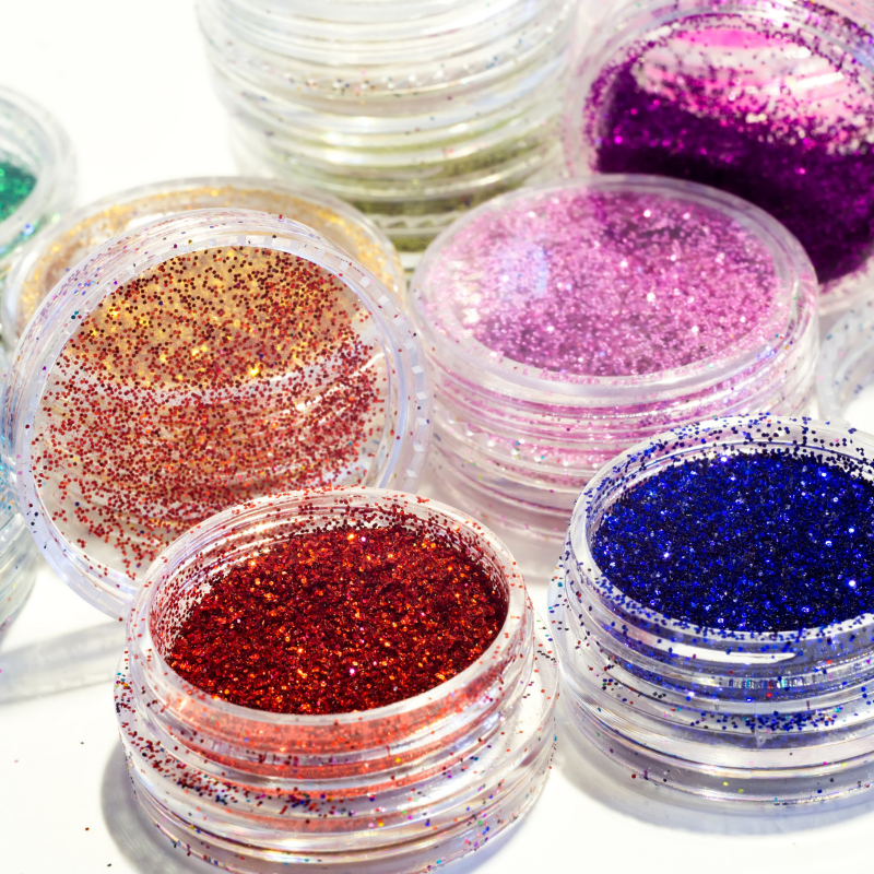 Nail Art Glitter Powder Set - 12 Colours