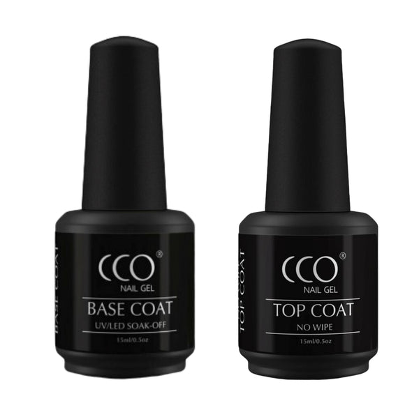 CCO No Wipe Top Coat & Base Coat 15ml