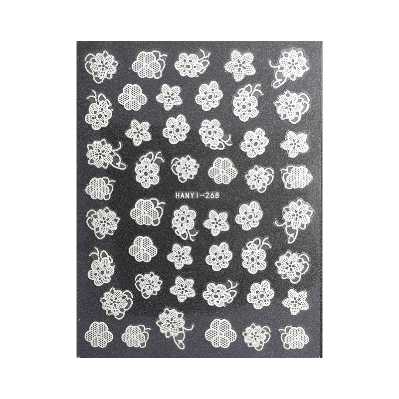 Nail Art Adhesive Stickers - Lace Flowers
