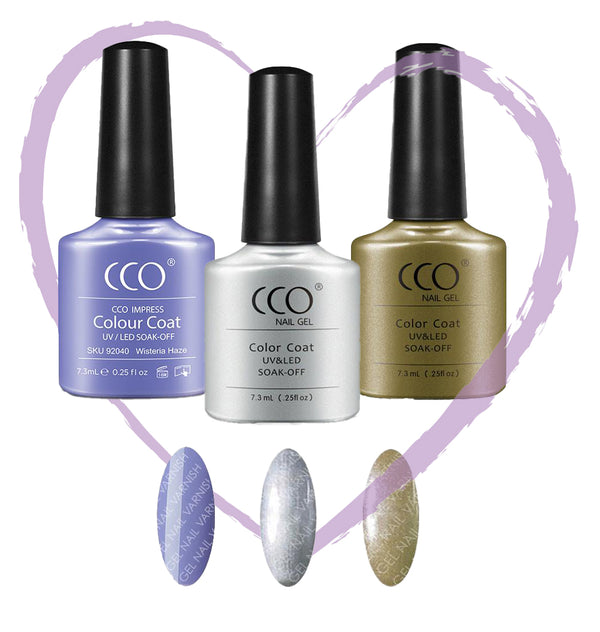CCO Lilac Love Trio freeshipping - Gel Nail Varnish