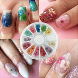 Flower Wheel Nail Art - Gel Nail Varnish