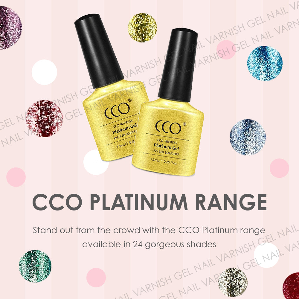 CCO PLATINUM NEW RANGE NAIL GELS GEL POLISH GEL VARNISH