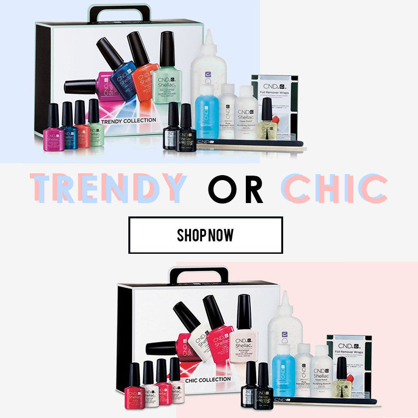CND KITS CHIC TRENDY COLLECTION CND LED LAMP SHELLAC KITS SET