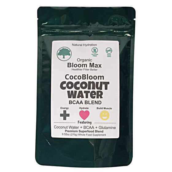 Workout Recovery CocoBloom Coconut Water BCAA Blend + Glutamine Superfood Powder Mix