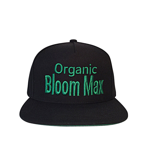 Organic Bloom Max signature black snapback hat - Organic Bloom Max