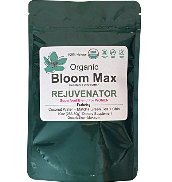 Super Green Powder - REJUVENATOR For Women - Organic Bloom Max