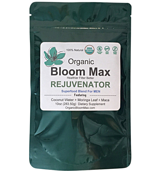 Super Green Powder - REJUVENATOR For Men - Organic Bloom Max