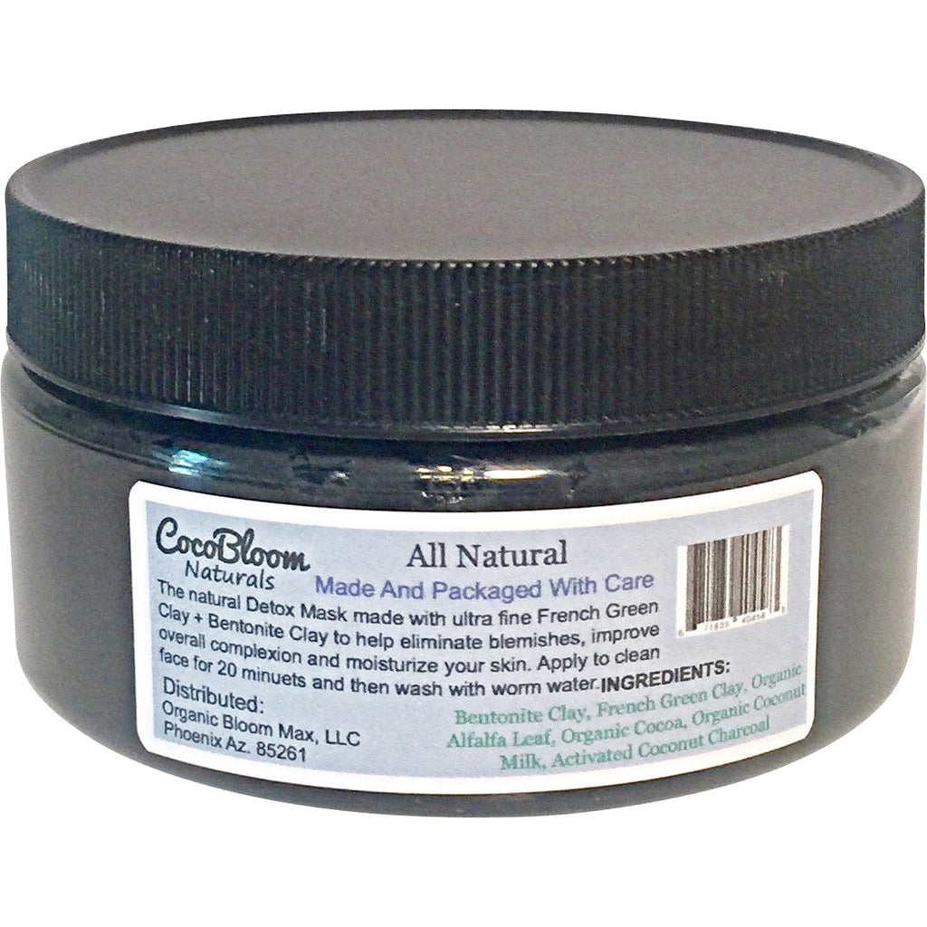 Green Detox Max - French Green Clay - Bentonite Clay -CocoBloom Naturals