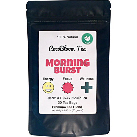 CocoBloom - Morning Burst - Premium Energy Tea - Green Tea - Focus - Wellness