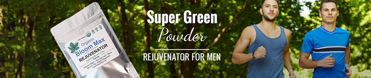 GREEN JUICE plus PROTEIN Organic Bloom Max super green powder blend