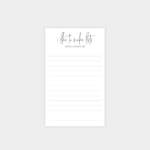 Carina Paper Co. - Like to Make Lists Notepad