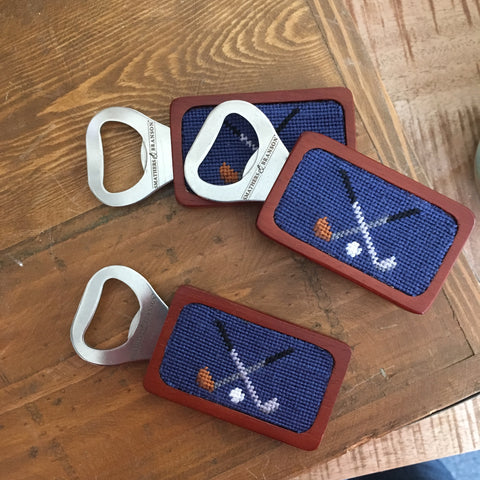 Smathers & Branson Golf Needlepoint Bottle Opener
