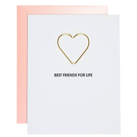 Chez Gagné - Best Friends For Life - Friendship Heart Paper Clip Card