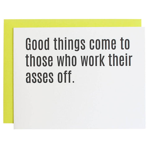 Chez Gagné - Good Things Come To Those Who Work Their Asses Off