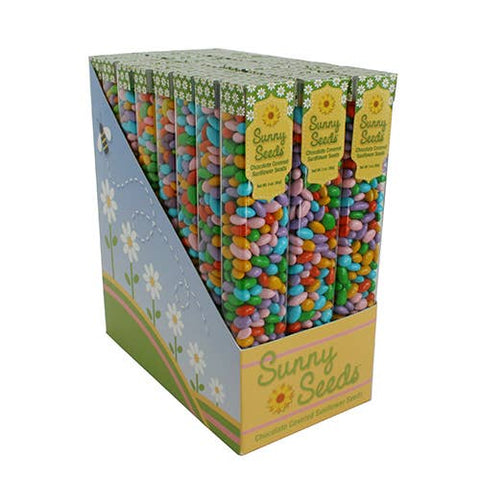Sunflower Food Company - Pastel Sunny Seeds, spring colored seeds in 3 oz tubes.