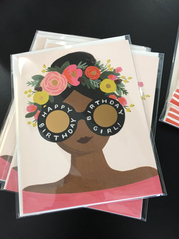 Rifle Paper Co. Flower Crown Birthday Girl Greeting Card