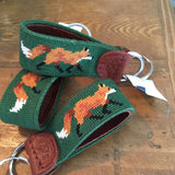 Smathers & Branson Fox Needlepoint Key Fob