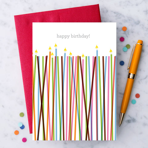 "Design With Heart - HB08 - ""Happy Birthday"" candles greeting card"