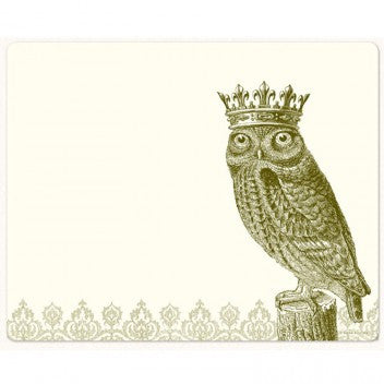 Alexa Pulitzer Royal Owl Mousepad Note pad