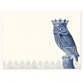 Alexa Pulitzer Royal Owl Note Cards