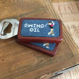Smathers & Branson Swing Oil (Slate) Needlepoint Bottle Opener