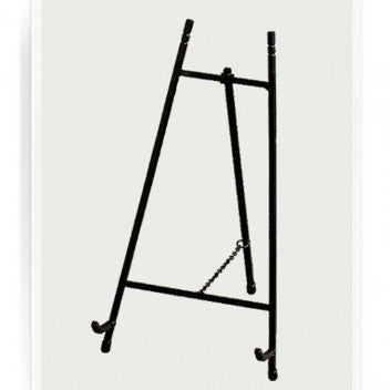 Classic Black Iron Gallery Easel For Decoupage