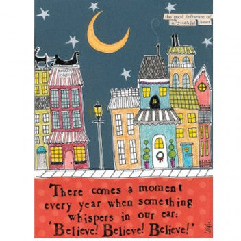 "Curly Girl Designs ""Believe, Believe, Believe"" boxed holiday cards"