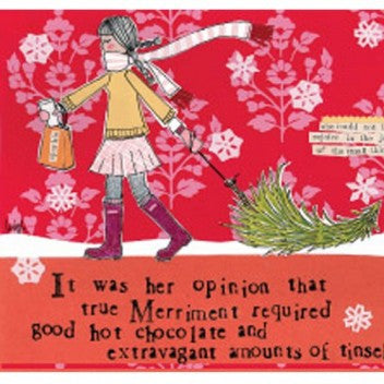 "Curly Girl Designs ""Extravagant Amounts of Tinsel"" boxed holiday cards"