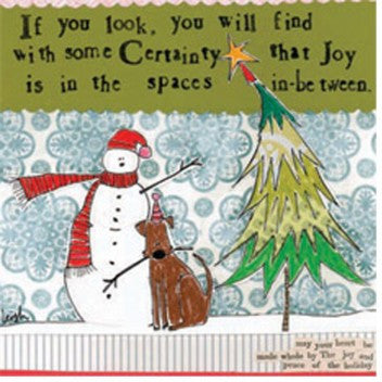 "Curly Girl Designs ""Spaces in Between"" boxed holiday cards"