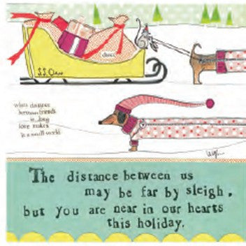 "Curly Girl Designs ""Tucker's Sleigh Ride"" boxed holiday cards"