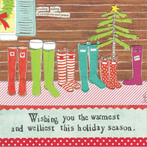 "Curly Girl Designs ""Welliest Wishes"" boxed holiday cards"