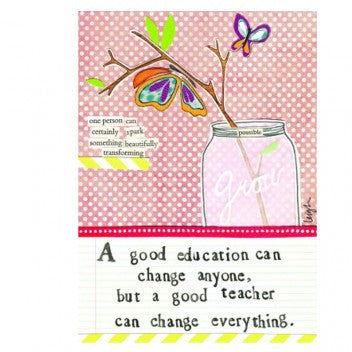 "Curly Girl Designs ""good teacher"" 4""x6"" greeting"