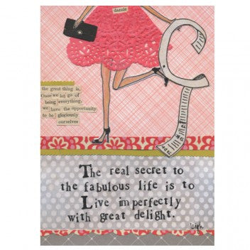 "Curly Girl Designs ""live imperfectly""  card"