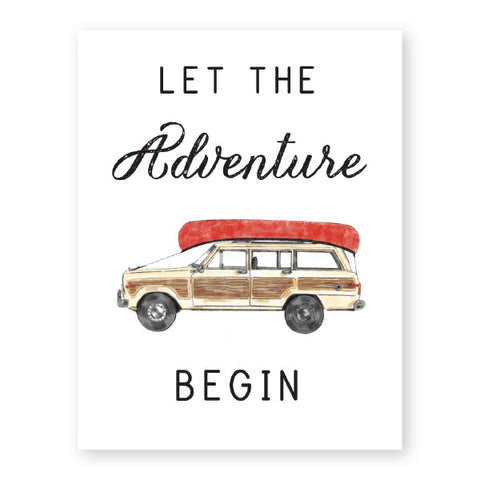 Donovan Designs Let The Adventure Begin Card