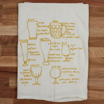 Glassware flour sack tea towel