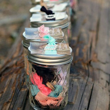 Mason Jar of  Hair Ties